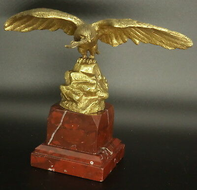 Large Bearing Pocket Watch, Eagle Decor, End 19Th - Bronze - French Antique