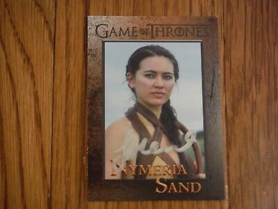 Keisha Castle-Hughes Autographed Game of Thrones Card Hand Signed Obara Sand