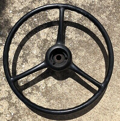 """Antique NOS 1940s Sheller 18"""" X 3""""-7/8"""" Splined Steering Wheel Chevy Ford Jeep"""