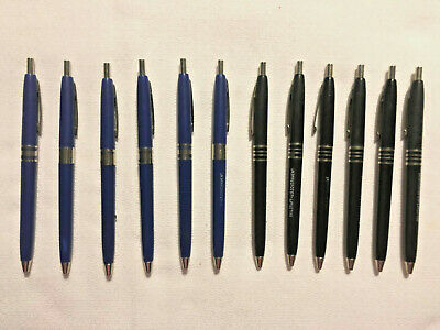 Lot of (12) Skilcraft US Government Ballpoint Pens Royal Blue & Black