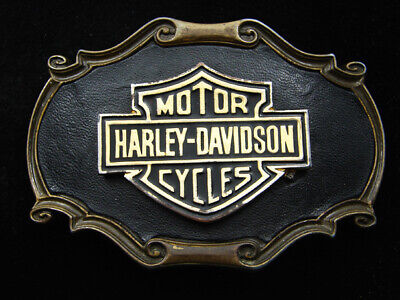 Rd05156 Vintage 1978 **Harley-Davidson Motorcycles** Advertisement Belt Buckle