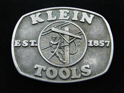 Rd09151 Vintage 1982 **Klein Tools 125 Years** Advertisement Belt Buckle