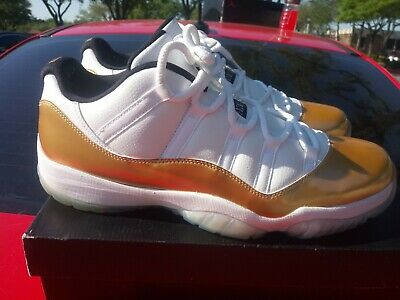 huge discount 4b3fe b93b9 Nike Air Jordan XI 11 Low Retro Size 14 Closing Ceremony White Gold  528895-103