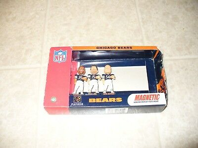 NFL CHICAGO BEARS MAGNETIC MINI BOBBLE HEADS SET Missing Coach Jauron
