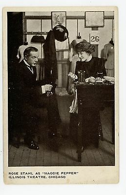 """Rose Stahl """"Maggie Pepper"""" Chicago Theater Advertising—Antique Actress 1910s"""