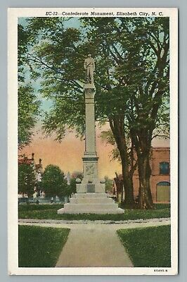 Confederate Monument ELIZABETH CITY North Carolina—Rare Antique CSA Statue 1940s