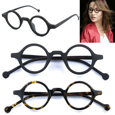 ae1281c90a 38mm Vintage Small Round Eyeglass Frames Acetate Rx-able Spectacles Glasses