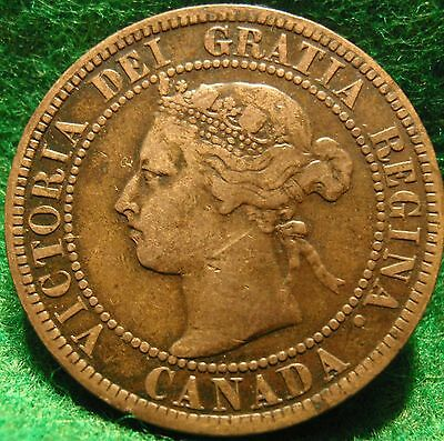 1899 VF High-Grade CANADA LARGE CENT Victoria COIN CANADIAN <..<...