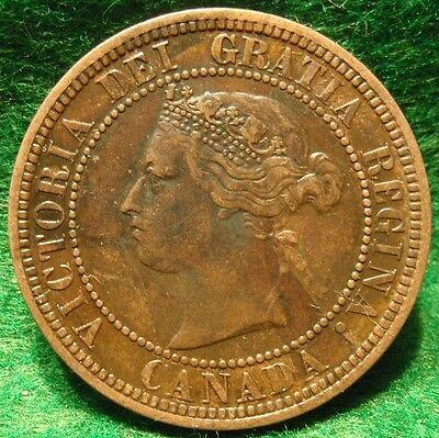 1876 High Grade CANADA LARGE CENT Victoria COIN CANADIAN <.-.
