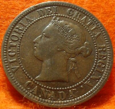 1876 High Grade CANADA LARGE CENT Victoria COIN NoRes CANADIAN