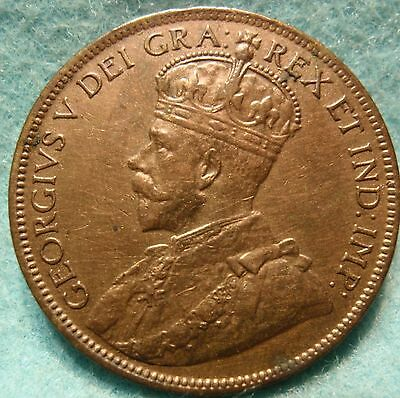 1916 AU-UNC CANADA LARGE CENT George V COIN NoRes CANADIAN <-.