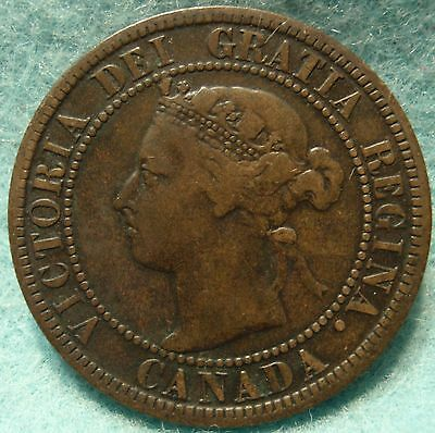 1896 High-Grade CANADA LARGE-CENT Victoria COIN No-Res CANADIAN