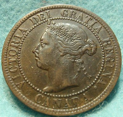 1899 High Grade CANADA LARGE CENT Victoria COIN NoRes CANADIAN