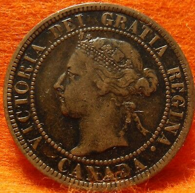 1901 XF High Grade CANADA LARGE CENT Victoria COIN NoRes CANADIAN