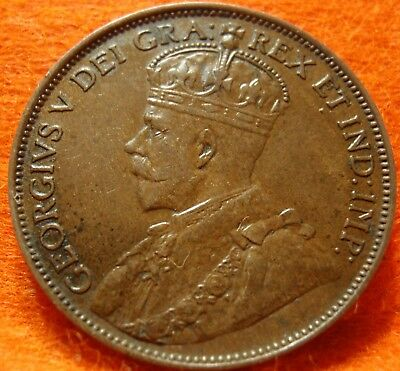 1913 XF-AU CANADA LARGE CENT George V COIN NoRes CANADIAN <-