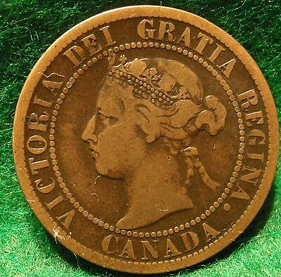 1897 High Grade CANADA LARGE CENT Victoria COIN CANADIAN <..<..