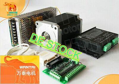 DE Delivery! Wantai 1Axis Stepper Motor Nema23 57BYGH627 3A 270oz-in 4-Wire Kit