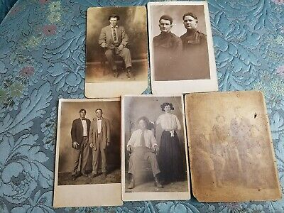 Antique WWI Soldiers Old Real Photo Postcard RPPC World War I Jessie James? More