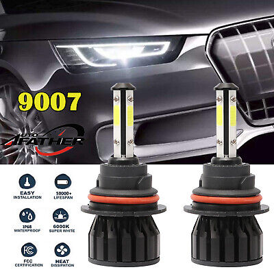 2X 9007 HB5 LED Headlight Bulb High Low Beam Conversion Kit  For Nissan Frontier
