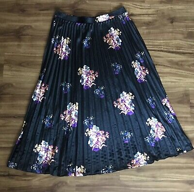 279cca73d3 NWT ANTHROPOLOGIE PLEATED Floral Velvet Skirt by Maeve Size L ...