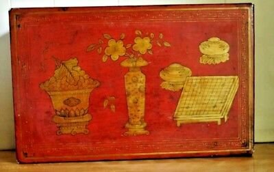 Antique Chinese Red Lacquer  Box