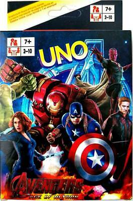 Avengers Ironman Hulk UNO CARDS Family Fun Playing Card Educational Melbourne