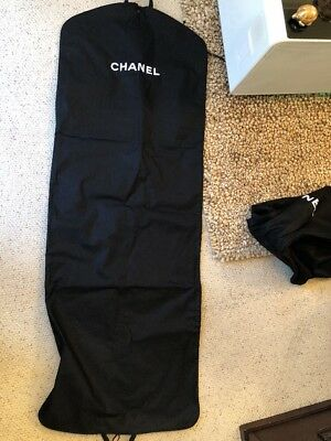 Chanel AUTHENTIC Garment Bag for Travel thick & long enough for a jacket Dress