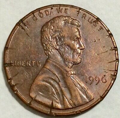 1996 1c Lincoln Memorial Canceled Coin