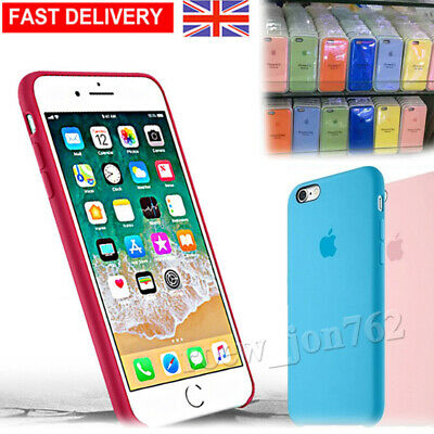 Shockproof Genuine Official Silicone Rubber Case Cover For iPhone 8 7 6s Plus UK