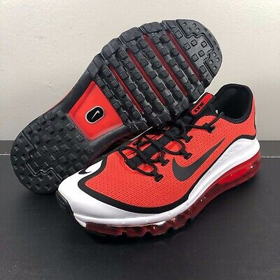 best sneakers 7eb51 5d913 New Mens Nike Air Max More Running Shoe Habanero Red Black Sz 10.5 AR1944  600