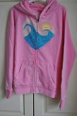Girls Pink Zip Animal Sweatshirt Hoodie Girls Waves BNWT 9-10 Years