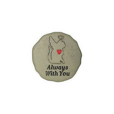 AngelStar Pet Cat Memorial Garden Stone Plaque Always With You