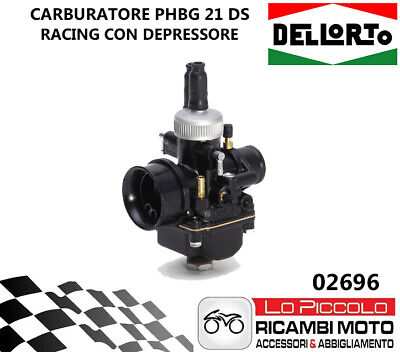 02696 CARBURATORE PHBG 21 mm DS RACING DELL'ORTO BLACK EDITION