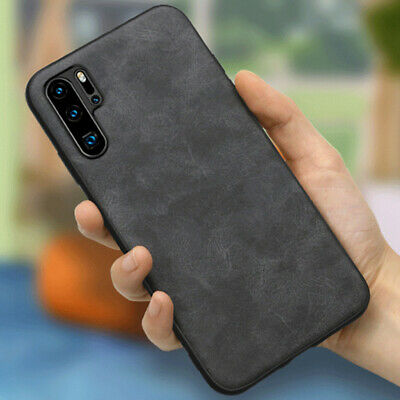 For Huawei P30 Pro P20 Pro Lite Luxury Vintage PU Leather Soft Back Case Cover