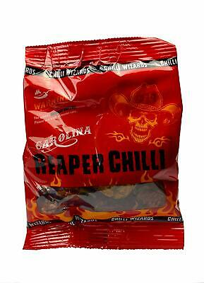 Chilli Wizards Carolina Reaper Dried Pods, 10g *FREE DELIVERY*