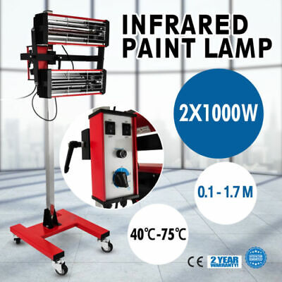 2X1000W Baking Infrared Paint Curing Lamp 602 0.1-17M Auto Filter Automatically