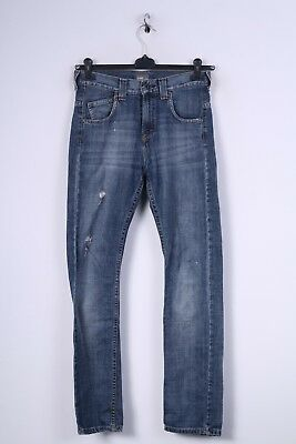 Lee Boys 14 Age Trousers Denim Cotton Jeans Blue Straight Leg