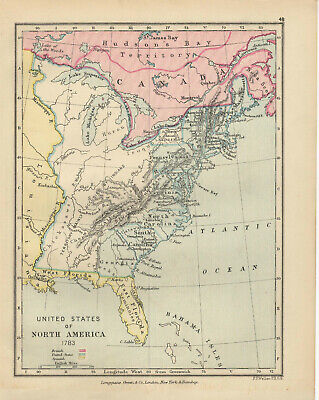 Antique Print - Map - United States Of North America 1783