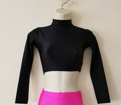 ADFP Sleeved Turtle Neck Crop Tops Dance/ Freestyle/Plainwear 4 sizes  7 colours