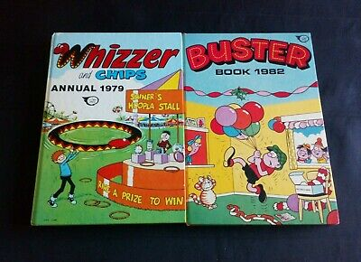 Whizzer and Chips/Buster Annuals x 2 1979/1982 U.K Comic Hardback Book