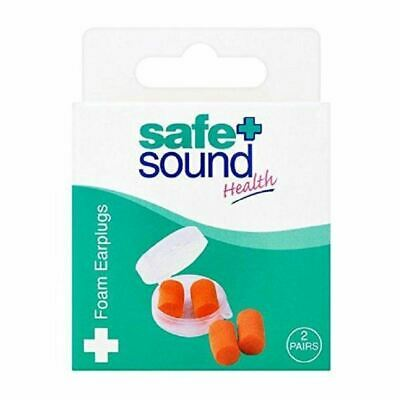 Safe & Sound Foam Earplugs - 2 Pairs