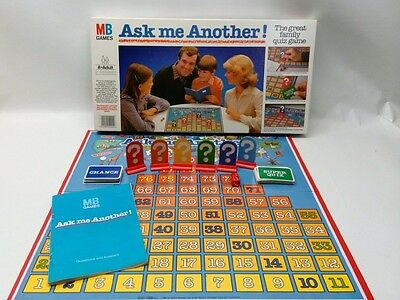 1984 MB GAMES ASK ME ANOTHER FAMILY QUIZ GAME 100/% COMPLETE