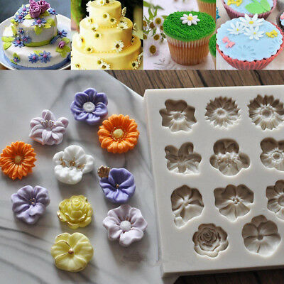 Flower Silicone Cake Mould DIY Cake Baking Molds Ice Chocolate Biscuit Bake Tool