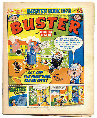 Buster 10 Dec 1977 (very high) Faceache, Clever Dick, Leopard from Lime St, Gums