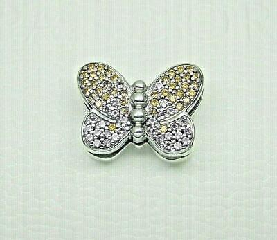 AUTHENTIC PANDORA ORIGINAL REFLEXIONS Silver Bedazzling Butterfly Clip 797864CZM