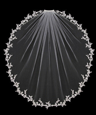 White Ivory Elbow Wedding Veils 1 Tier Bridal Accessories Bride Length Comb 2019