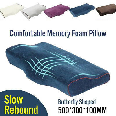 Memory Foam Pillow Butterfly Shaped Bedding Head Neck Support Orthopedic Sleep