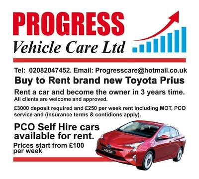 Pco Car Hire Uber Ready Minicab Taxi Vehicle Rental Toyota Prius