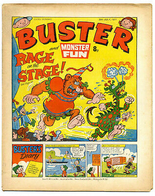 Buster 30th July 1977 (high) Faceache, Clever Dick, Leopard from Lime St, Gums
