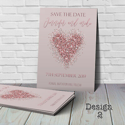 Personalised Wedding Save the Date Cards with Envelopes SV2